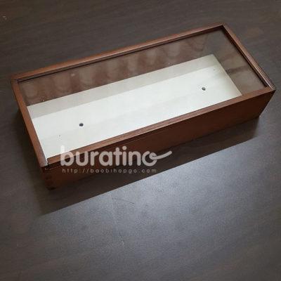 hộp gỗ nắp mica